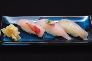 旬の地物白身魚3種盛り