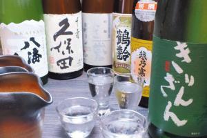 「八海山」など新潟の地酒を豊富に用意